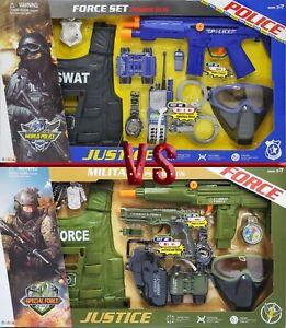 Toy Gun Plastic Police Army Machine Gun Set Kid Children War Game Toys UK Xmas