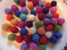 Felt Boules, 2 cm, 50 pack, couleurs mélangées