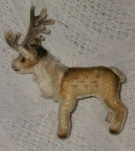 """Steiff Vintage Renny Reindeer, 5"""" Tall, No Tags or Button"""