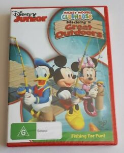 Disney Junior Mickey Mouse Clubhouse Mickey's Great Outdoors DVD PAL NEW SEALED