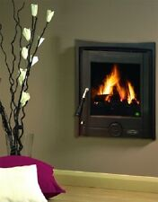 New Heritage Pollmore 5Kw Inset Room Heater Wood Log Burner Stove Matt Black