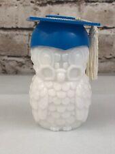 """Avon Glass Wise Owl 'Sweet Honesty' Bottle Graduation Cap Empty 4.25"""""""