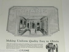 1920 Crane Company advertisement, vintage bathroom fixtures and layout