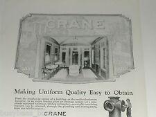 1920 Crane Company advertisement, vintage bathroom fixtures and layout