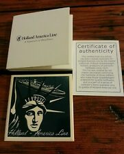 "Holland Amercan Line (Dutch) *Deleft Coaster Tile "" Statue Of Liberty"" New"
