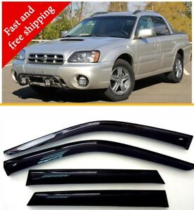 Deflectors For Subaru Baja 2002-2006 Rain Sun Visors Weather shields for Windows