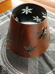 METAL Candle Topper Snowflake Bronzed Christmas