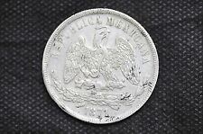 Mexico - Republic 1871 Mo M UN PESO Silver Coin ( Weight : 27.07 g ) C92