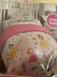 Girls Cute Disney Princess 3 Piece Twin Comforter Set Reversible New In Package