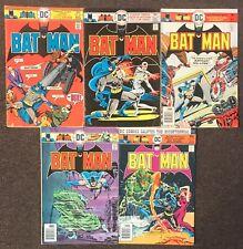 Batman #273,274,275,276,277 1976 Lot Series 1