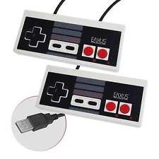 2x Retro USB CONTROLLER NES design Gamepad 👽 PC MAC Windows Raspberry Pi EAXUS ®