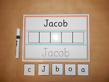 I can Write and Spell my Name - EYFS /Early Learning - Wipe clean/reusable mat