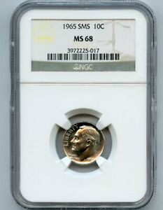 1965 SMS 10c Roosevelt Dime NGC MS 68