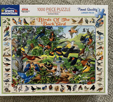 White Mountain 1000 Piece Jigsaw Puzzle BIRDS OF THE BACKYARD Complete 2019