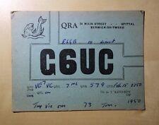 QRA Card To Victor W. Cumyow Descendant of Alexander Won Cumyow G6UC Berwick