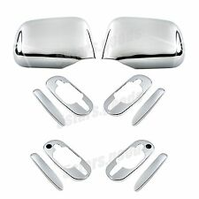 Accessories Chrome Side Mirror + Door Handle Covers For Honda CR-V 1997-2001