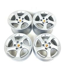 Refurbished Set Genuine Porsche 996 Carrera 4S Turbo II Solid Spoke Alloy Wheels