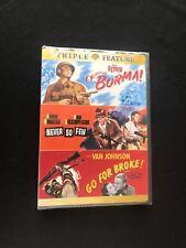 Objective Burma! / Never So Few / Go for Broke Triple Feature NEW Dvd! TRIPLE FT