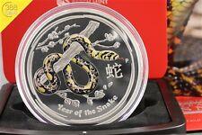 Australien Lunar II Schlange Snake 1kg Silber 2013 PP Farbe Colour