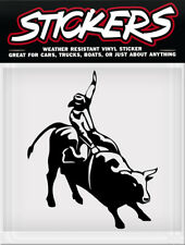 Black Bull Rider Cowboy Rodeo Window Sticker Decal Truck Car Weather Resistant