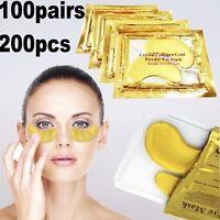 30-50 Anti Aging Crystal Collagen Gold Powder Eye Mask Patch Wrinkle Dark Circle