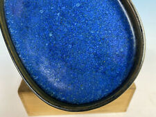 "Beautiful Blue Glazed Suiban For Suiseki Bonsai Tree Pot By Harumatsu 7 3/8"""