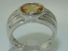 Citrine Solitaire Oval Anniversary Fine Rings