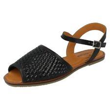 Sandalias y chanclas de mujer plano negro Talla 39.5