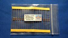 Resistors, carbon film, 1/4 watt, 5%, axial leaded, 6800 Ohm - 6.8 K - QTY of 20