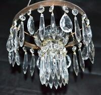 Vintage Pressed Glass Circular Chandelier - FREE Shipping [PL3035]