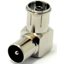 90 Deg. Right Angled RF Coaxial Male Plug To Female Socket Adapter, TV Connector