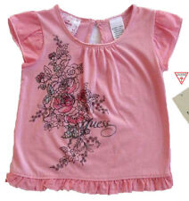 NWT GUESS JEANS Baby Girls Pink Short Sleeve Top(Size 12 Months) NEW