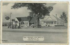 Chicken and Biscuit Restaurant View Old Cars Valdosta GA Posted Postcard 1943