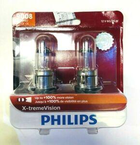 NEW Philips 9008 XVB2 H13 X-treme Vision 60/55W Halogen Headlight 3400K (pair)