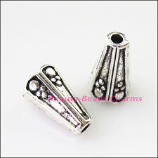 8Pcs Tibetan Silver Cone Speaker End Bead Caps Connectors 8mm