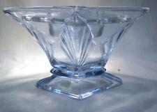 More details for art deco  bagley blue glass  spinette  vase & frog