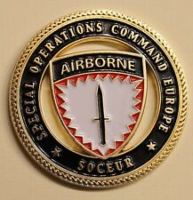 Special Operations Command Europe SOCEUR Joint Spec Ops Challenge Coin