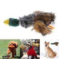 Fun Pet Dog Puppy Chew Squeaker Stuffed Plush Sound Duck For Dog Play Toy