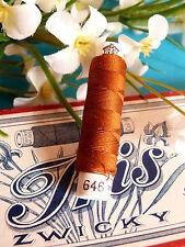 09B/ SPLENDIDE BOBINE DE FIL DE SOIE NATURELLE ZWICKY IRISANA MARRON  N° 646