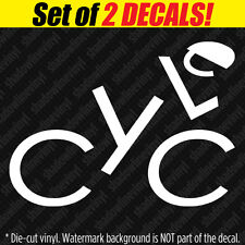 CYCLE Vinyl Decal Sticker Biking Cycling Fitness Triathlon Ironman Mountain Bike