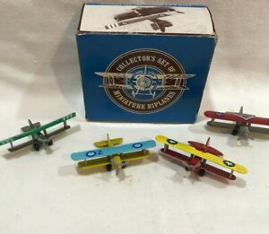 Collector's Set of 4 Miniature Diecast Biplanes - Readers Digest