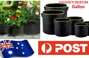2/5 Pcs  Fabric Plant Pots Grow Bags with Handles 1/2/3/5/7/10/21/34 Gallon