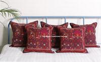 Indian Vintage Kilim Pillow Case 18x18 Hand Woven Jute Rug Throw Cushion Cover