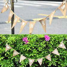 MR&MRS JUST MARRIED Drapeau Bannière Banderole Fête Mariage Décoration Guirlande