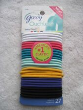 27 Goody New Dawn Ouchless No Metal Elastic Ponytailer Hair Bands White Yellow