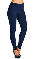 ONE SIZE Women's Solid NAVY Blue Buttery Soft Unicorn Leggings Bottoms OS 2-12