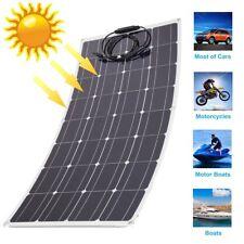 100 Watt Mono Flexible Solar Panel 12V Poly Off Grid Battery Charger for RV  BE