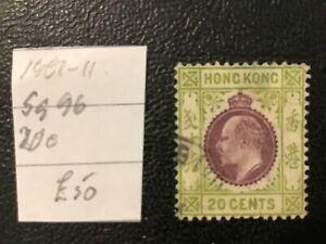 Hong Kong 1907 sg 96