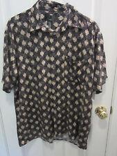 J. FERRAR Mens Short sleeve Shirt SIZE LARGE Camp shirt Casual