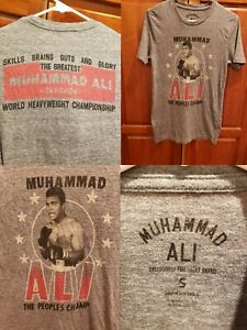 Lucky Brand Muhammad Ali Thrilla Boxing GOAT People's Champ T Shirt Small